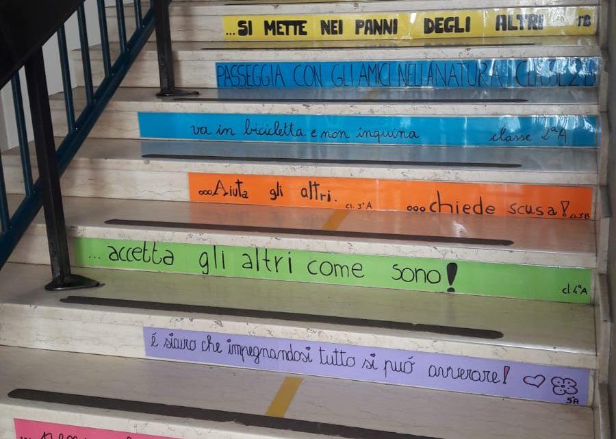 I Pacifici alla Scuola Primaria Ghirotti di Vicenza per la Giornata della Pace 2021.